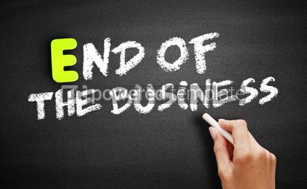 Business: EOB - End Of the Business on blackboard business concept backgr #18217