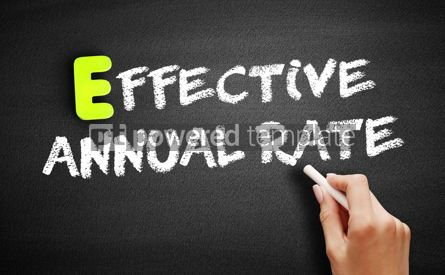 Business: Effective Annual Rate on blackboard business concept #18220