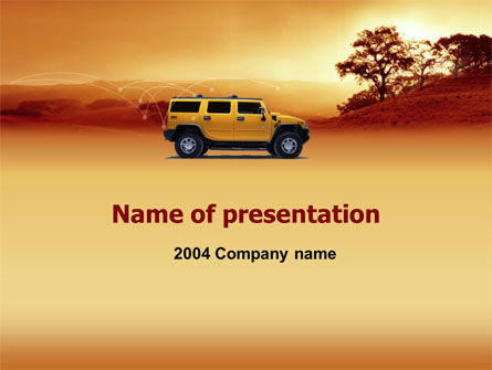 Nature & Environment: Plantilla de PowerPoint - safari #00005