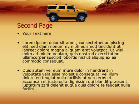 Safari PowerPoint Template, Slide 2, 00005, Nature & Environment — PoweredTemplate.com