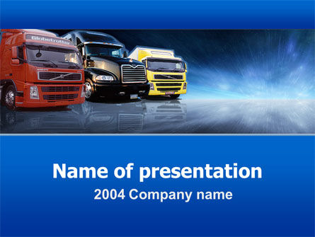 Cars and Transportation: Modelo do PowerPoint - logística #00007