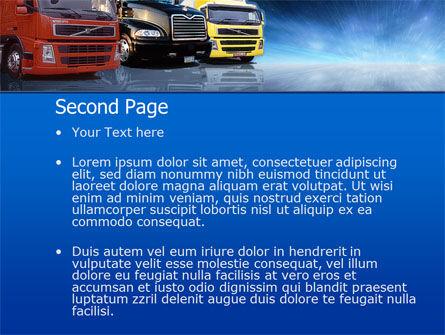 Logistics PowerPoint Template, Slide 2, 00007, Cars and Transportation — PoweredTemplate.com