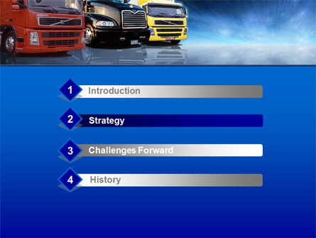 Logistics PowerPoint Template, Slide 3, 00007, Cars and Transportation — PoweredTemplate.com