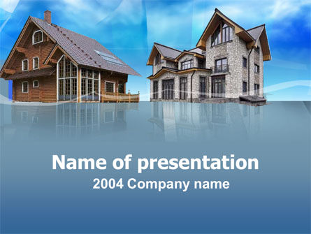 Construction: Vorort herrenhaus PowerPoint Vorlage #00009