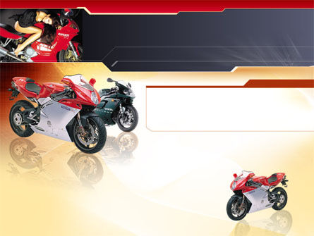 Education & Training: Motorfiets PowerPoint Template #00010