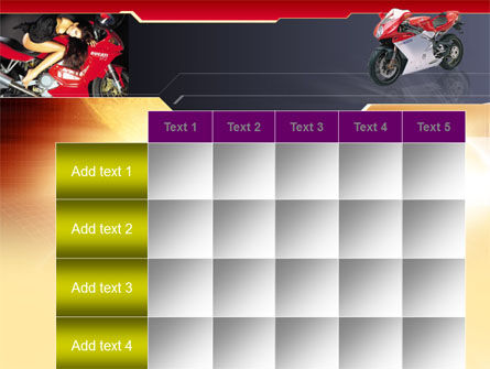 Motorcycle PowerPoint Template Slide 15