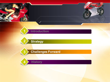 Motorcycle PowerPoint Template Slide 3