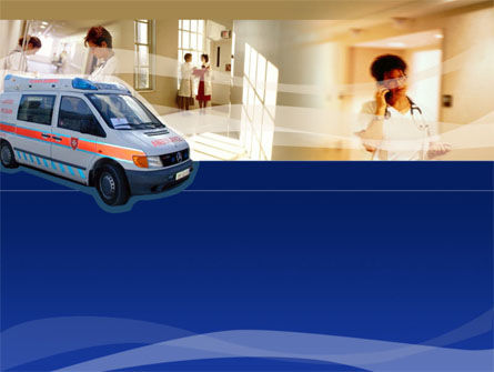 Medical: Templat PowerPoint Ambulans #00014