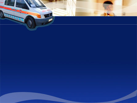 Ambulance PowerPoint Template, Slide 2, 00014, Medical — PoweredTemplate.com