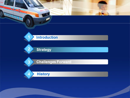 Ambulance PowerPoint Template, Slide 3, 00014, Medical — PoweredTemplate.com