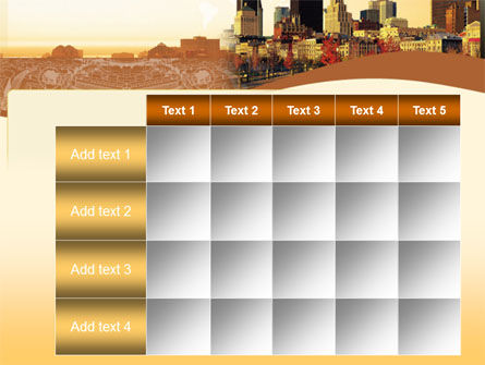 Megalopolis In Brown Colors PowerPoint Template Slide 15