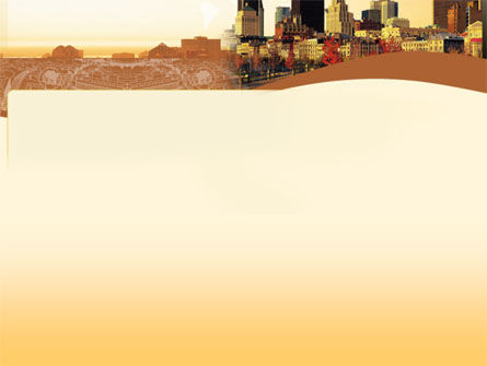 Megalopolis In Brown Colors PowerPoint Template, Slide 2, 00015, Global — PoweredTemplate.com