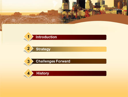Megalopolis In Brown Colors PowerPoint Template, Slide 3, 00015, Global — PoweredTemplate.com