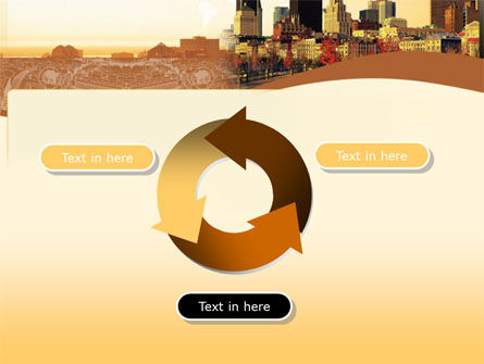 Megalopolis In Brown Colors PowerPoint Template Slide 9