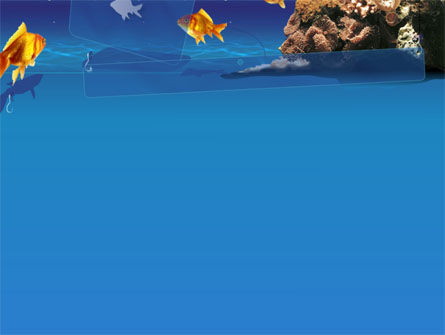 blue waters with fish powerpoint template, backgrounds | 00024, Modern powerpoint