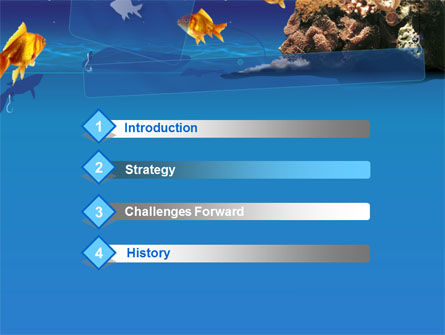 Blue Waters with Fish PowerPoint Template, Slide 3, 00024, Animals and Pets — PoweredTemplate.com