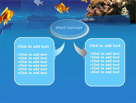 Blue Waters with Fish PowerPoint Template, Slide 4, 00024, Animals and Pets — PoweredTemplate.com