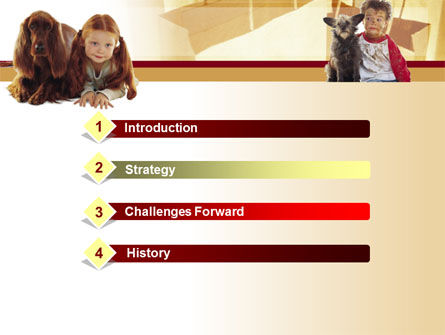 Kids & Dogs PowerPoint Template, Slide 3, 00026, Animals and Pets — PoweredTemplate.com