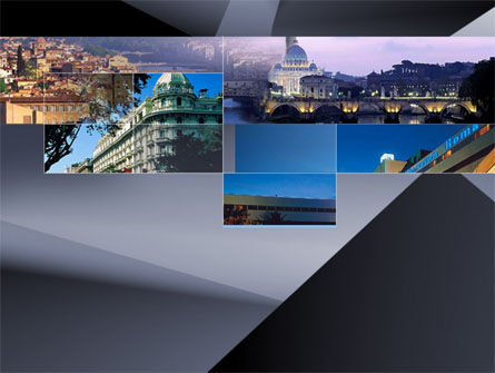 Italian Cities PowerPoint Template, 00028, Business — PoweredTemplate.com
