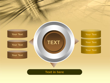 3D Sepia Business PowerPoint Template Slide 12