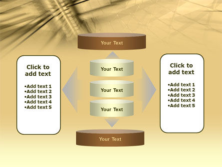 3D Sepia Business PowerPoint Template Slide 13