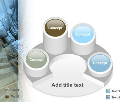 3D Blue & Gray PowerPoint Template Slide 12