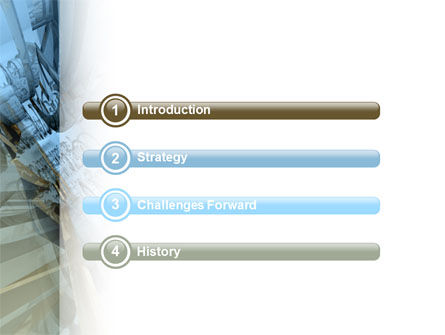 3D Blue & Gray PowerPoint Template Slide 3