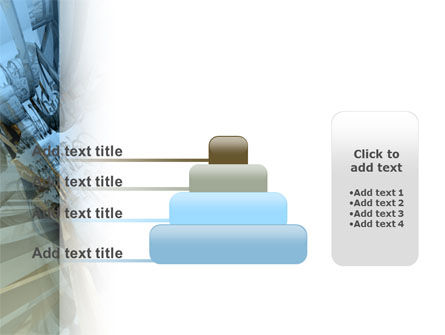 3D Blue & Gray PowerPoint Template Slide 8