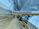 Abstract/Textures: 3d Blauwe En Grijze PowerPoint Template #00035