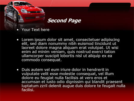 Automotive PowerPoint Template, Slide 2, 00040, Art & Entertainment — PoweredTemplate.com