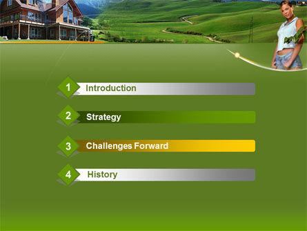Countryside PowerPoint Template, Slide 3, 00044, Nature & Environment — PoweredTemplate.com