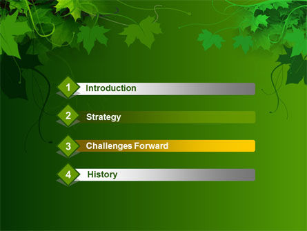 Ivy PowerPoint Template, Slide 3, 00045, Nature & Environment — PoweredTemplate.com