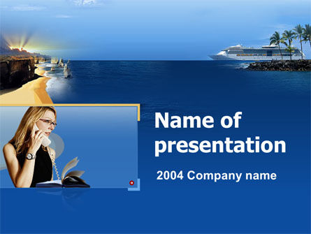 Holiday/Special Occasion: Travel Agency PowerPoint Template #00046