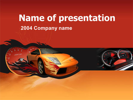 Cars and Transportation: Modelo do PowerPoint - corrida de motor #00048