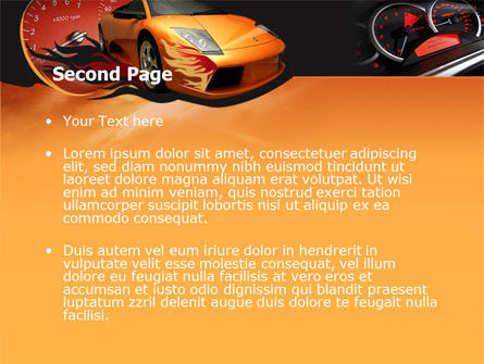 Motor Race PowerPoint Template, Slide 2, 00048, Cars and Transportation — PoweredTemplate.com