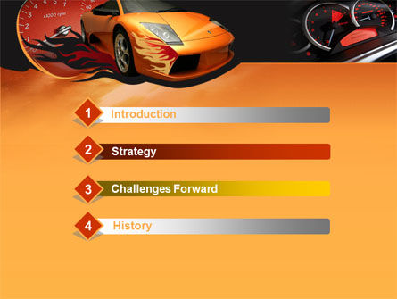 Motor Race PowerPoint Template, Slide 3, 00048, Cars and Transportation — PoweredTemplate.com
