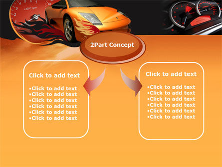 Motor Race PowerPoint Template, Slide 4, 00048, Cars and Transportation — PoweredTemplate.com