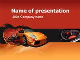 Cars and Transportation: Plantilla de PowerPoint - carrera de motor #00048
