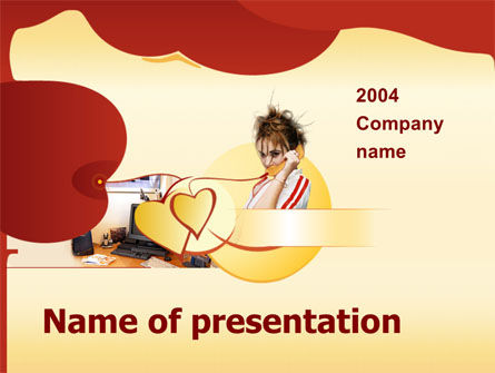 Art & Entertainment: Telefoongesprek PowerPoint Template #00049