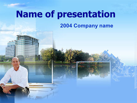 Construction: Downtown Project PowerPoint Template #00050