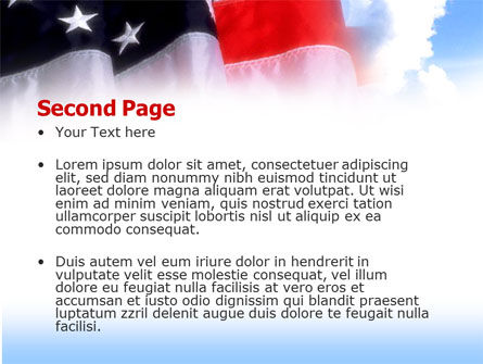 American Flag PowerPoint Template, Slide 2, 00051, America — PoweredTemplate.com