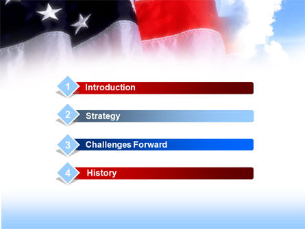 American Flag PowerPoint Template, Slide 3, 00051, America — PoweredTemplate.com