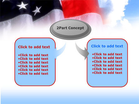 American Flag PowerPoint Template, Slide 4, 00051, America — PoweredTemplate.com