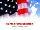 America: American Flag PowerPoint Template #00051