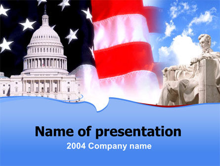 Capitol PowerPoint Template, 00052, America — PoweredTemplate.com