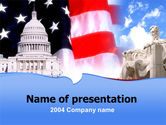 America: Capitol PowerPoint Template #00052