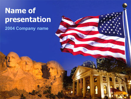 Founding Fathers PowerPoint Template, 00053, America — PoweredTemplate.com