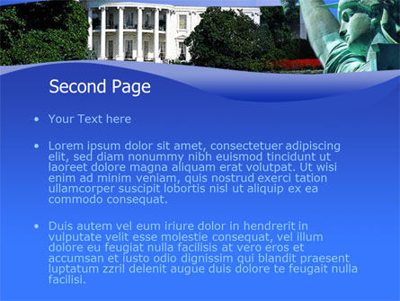White House Free PowerPoint Template, Slide 2, 00054, America — PoweredTemplate.com