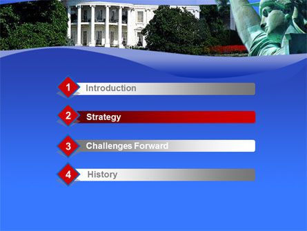 White House Free PowerPoint Template, Slide 3, 00054, America — PoweredTemplate.com