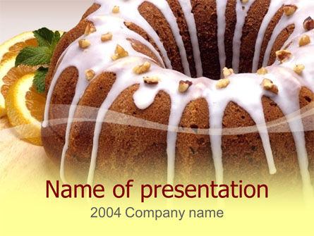 Food & Beverage: Modello PowerPoint - Torta #00055